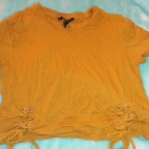 Forever 21 camel crop top
